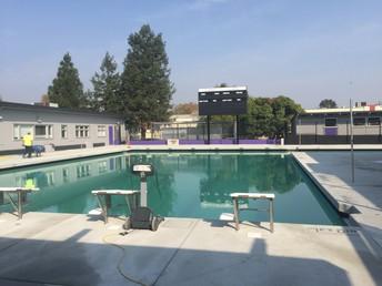 Pool with new scoreboard