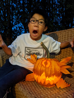Pumpkin Carving Contest Winner for 4th and 5th Grade
