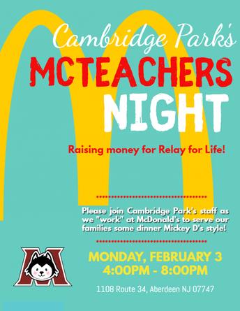 McTeacher's Night at McDonalds!