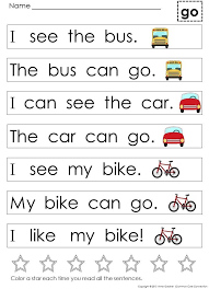 Reading Sentences