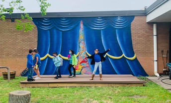 Growing Grove Stage Mural
