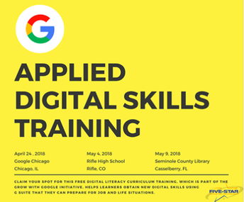 Google Applied Digital Skills Workshop in Chicago April 24