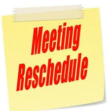 Home & School Meeting RESCHEDULED for Tuesday 2/19