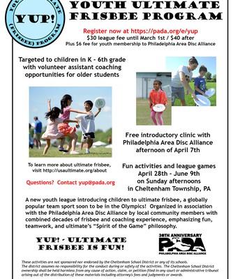 Youth Ultimate Frisbee Program