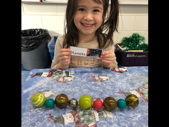 Learning about the solar system in Kindergarten