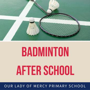 Badminton after school - Years 3-6