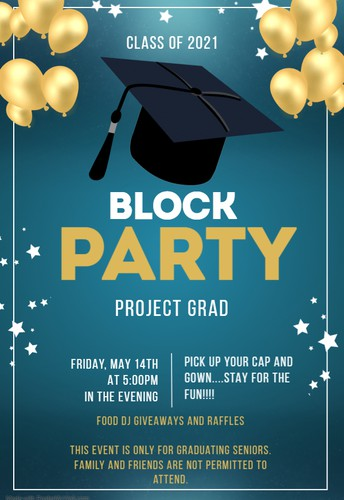 Seniors! Don't forget to RSVP If you're going to attend Project Grad on May 14th