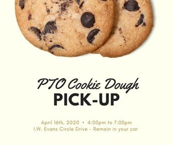 PTO Cookie Dough Pick-Up Announcement