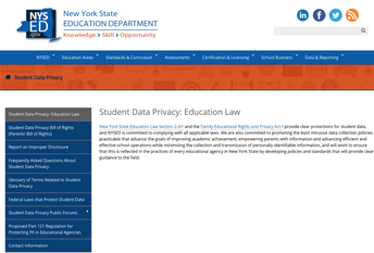Student Data Privacy: Education Law
