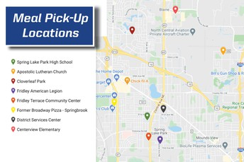 Change to times and locations for free meal pick-up