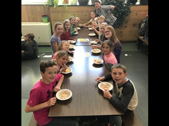 PBIS build your own ice cream sundae event last Friday for students wishing to use their earned mountain money.