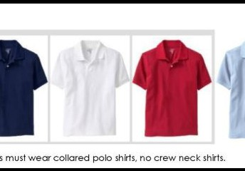 Shirts- Can have out logo or be plain (Red, Blue, White, Grey)