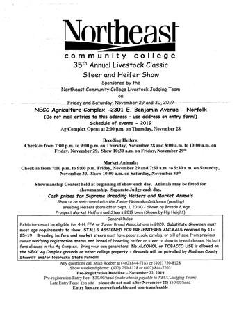 Livestock Classic Steer & Heifer Show