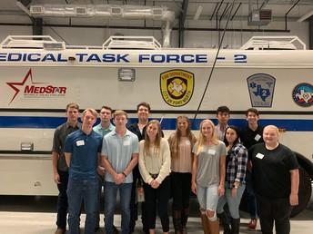 Emergency Medical Tech Students Tour Medstar Facility