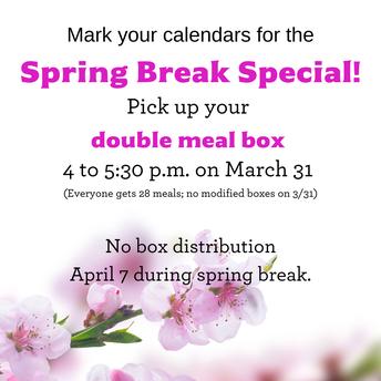 Spring Break Special Meal Box