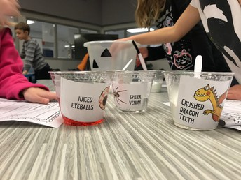 Mrs. Smith and Ms. Sheppler's students were scientists with some scary ingredients!