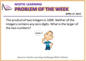Noetic Learning Summer Problem of the Week