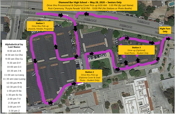 Campus Map for Thursday, May 28, 2020