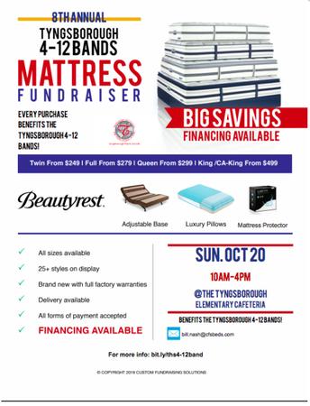 8th Annual TPS Band Mattress Fundraiser