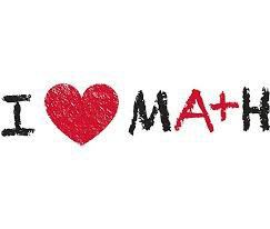 "Picture that says ""I heart Math"""