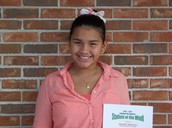 Pinewood Fifth Grader, Nahomy Mencias Named Character Counts! Student of the Week!
