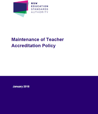 NESA: Maintenance of Teacher Accreditation Policy