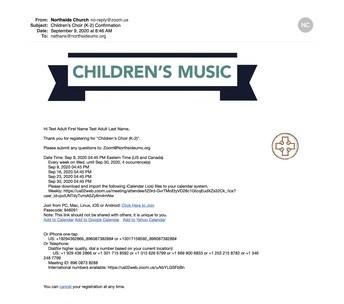 Registration Email Confirmation