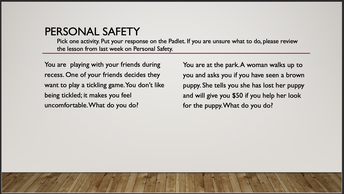 Personal Safety Review (PK-2)