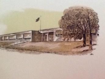 Original Sketch of Burt School