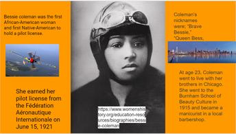 Bessie Coleman - Aviator