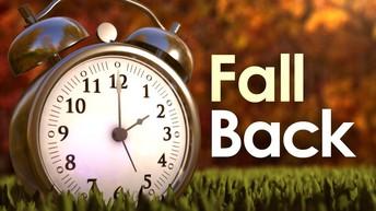 Daylight Savings Time Ends November 1