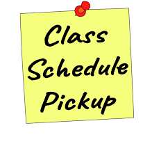 SCHEDULE PICK UP- August 17                                                                               ( Non-Virtual Students)