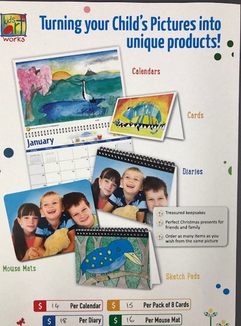 Kids Calendar Art Work - Orders close Friday 15 November.