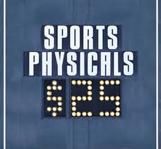 Sports Physicals, May 9th