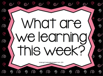 Learning objectives for the week