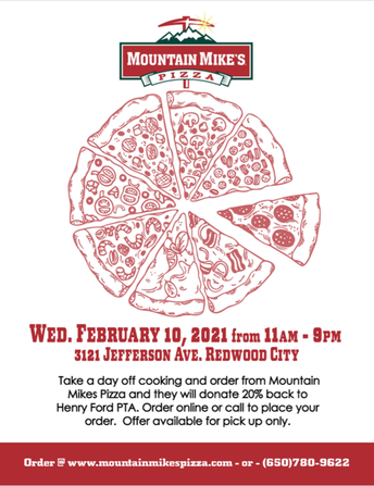 DINE OUT at Mountain Mike's Pizza, Redwood City