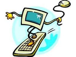 Image of a computer riding a surfboard