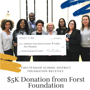 CSD Foundation Receives $5K Donation from Forst Foundation