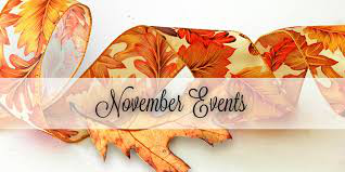 November - Upcoming Events