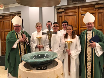 Students & Alumni Serving with the Bishops at Memorial Mass