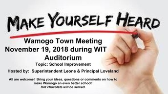 Wamogo Town Meeting - Nov. 19