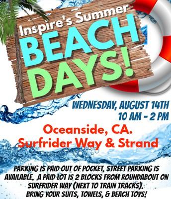 Inspire's Summer Beach Days! OCEANSIDE