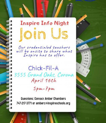 Inspire Info Night in CORONA!