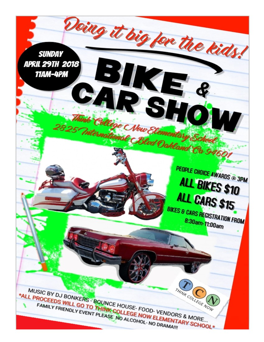 TCN Bike Car Show Smore Newsletters For Education - Oakland car show