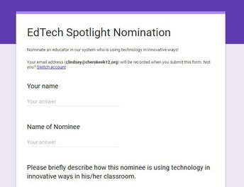 Nominate an educator in our system who is using technology in innovative ways!