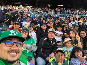 LCPA attending an Oakland A's Game at the Coliseum