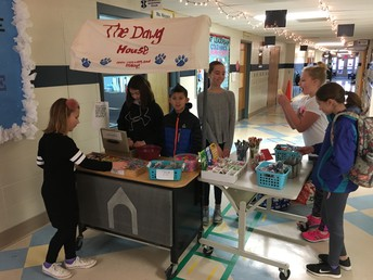 Our 5th grade Student Leadership team runs the store.