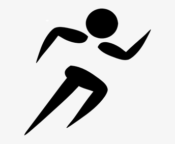 graphic drawing of a runner