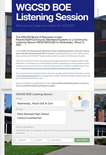 Rescheduled: Board of Education to Host a Listening Session