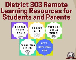 D303 Remote Learning Resources for Students and Parents